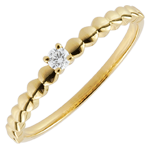 women Solitaire Ring Golden Sweet - Yellow Gold