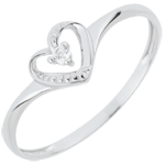 jewelry Solitaire Ring Loving heart