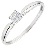 women Solitaire Ring Multitude of stars