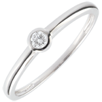 Solitaire Ring My Diamond – White gold – 0.08 carats – white gold 9 carats