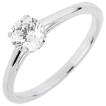 jewelry Solitaire Ring of Precious Purity with a 0.50 carat diamond