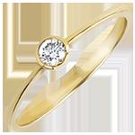Solitaire ring Origine - Onschuldigheid - 18 karaat geelgoud met Diamanten