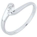 Solitaire Ring Precious Nest - Eternal Passion - white gold - 0.14 carat diamond - 18 carats