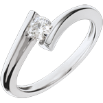 buy Solitaire Ring Precious Nest - Lunar Eclipse - white gold - 18 carats