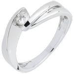 sell on line Solitaire Ring Precious Nest - Mont Diamant - white gold - 18 carats