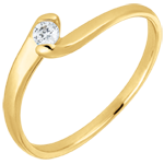 gifts Solitaire Ring Precious Nest - Summer Evening - yellow gold - 0.08 carats - 9 carats