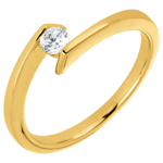 on line sell Solitaire Ring Princess Star - Yellow gold