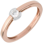 women Solitaire Ring rose gold ring - bezel setting