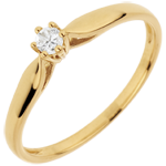 sell on line Solitaire Ring Sprig 6 prong diamond