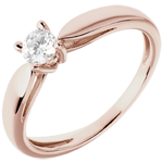 women Solitaire Ring Sprig - Pink gold - 0.25 carat