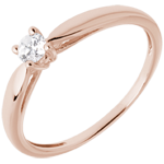 weddings Solitaire Ring Sprig - Pink gold