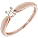 gift woman Solitaire Ring Sprig - Pink gold