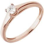 sales on line Solitaire Ring The Essential - Pink gold