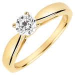 Geschenk Solitaire rosé - Diamant 0.4 Karat - Gelbgold 9 Karat