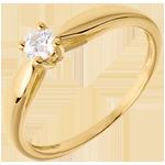 bijou Solitaire roseau or jaune - 0.16 carat