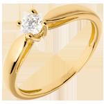 cadeau femmes Solitaire roseau or jaune - 0.26 carat
