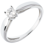 gift Solitaire tapered ring white gold - 0.25 carat