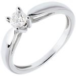 sell on line Solitaire tapered ring white gold - 0.3 carat