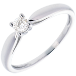 gold jewelry Solitaire tapered ring white gold