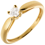 gifts Solitaire tapered ring yellow gold - 0.21 carat
