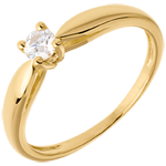 on line sell Solitaire tapered ring yellow gold