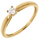 gift woman Solitaire tapered ring yellow gold