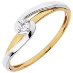 Solitairs Ring Silly - 0.08 karaat