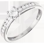 Geschenke Solitär Embellie in Weissgold - 0.39 Karat - 11 Diamanten