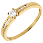 Juwelier Solitär Octave in Gelbgold - 0.27 Karat - 9 Diamanten