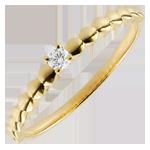 Juwelier Solitär Ring Goldenes Bonbon Gelbgold