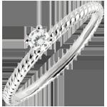 Verkauf Solitär Ring Goldenes Seil - Weißgold