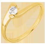Solitär Ring Kostbarer Kokon - Ewige Leidenschaft -Gelb - 0. 14 Karat - 9 Karat