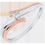 Solitär Ring Kostbarer Kokon - Licht Variation - Diamant 0.032 Karat - 18 Karat