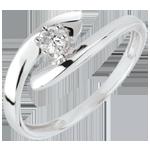 Geschenke Solitär Ring Kostbarer Kokon - Orion - Weißgold - 18 Karat