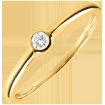 Geschenk Frauen Solitär Ring Mein Diamant - Gelbgold - 0.08 karat