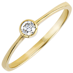 Solitär Ring Ursprung - Innocence - 18 Karat Gelbgold und Diamant