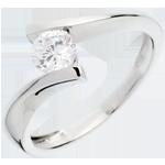 Solitario Apostrofo - Oro bianco -18 carati - Diamante - 0.52 carati