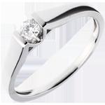 Solitario Arco - Oro bianco - 18 carati - Diamante - 0.14 carati