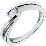 Solitario Brillo Eterno - Ondina - oro blanco - 1 diamantes: 0.11 quilate - 18 quilates