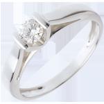 Solitario Caldera - Oro bianco - 18 carati - Diamante - 0.24 carati