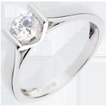 regali donne Solitario Caldera - Oro bianco - 18 carati - Diamante - 0.52 carati
