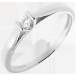 Solitario Caldera - Oro bianco - 18 carati - Diamante
