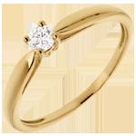 joyas en oro Solitario caña oro amarillo