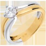 venta en línea Solitario canal oro amarillo-oro blanco - 0.52 quilates