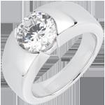 Solitario Era - Oro bianco - 18 carati - 1 Diamante - 2 carati