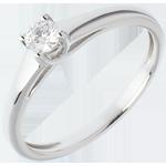 Solitario l'Essenziale - Oro bianco - 18 carati - Diamante - 0.19 carati