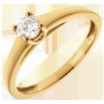 regali donne Solitario l'Essenziale - Oro giallo - 18 carati - Diamante - 0.25 carati