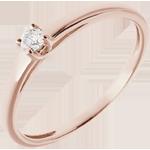 Solitario l'Essenziale - Oro rosa - 18 carati - Diamante - 0.08 carati