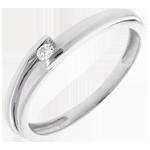 Solitario Nido Precioso - Bipolar - oro blanco 18 quilates - diamante 0.04 quilates