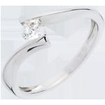 gioiellerie Solitario Nido Prezioso - Apostrofo - Oro bianco - 18 carati - Diamante - 0.26 carati